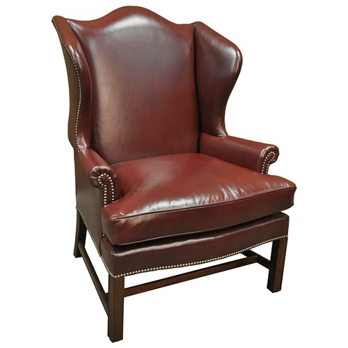 Mahogany Presidential Chippendale Wing Chair