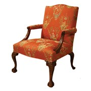 Mahogany Presidential Fireside Chair