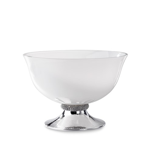Buccellati Caviar Sterling Silver and Opaline Bowl, Large