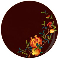 Raynaud Harmonia Dinner Plate, Brown Background