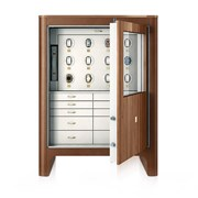 Walnut Twelve-Watch Winders Armoire