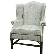 Pierced Mahogany Wing Chair