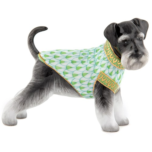Herend Schnauzer Key Lime