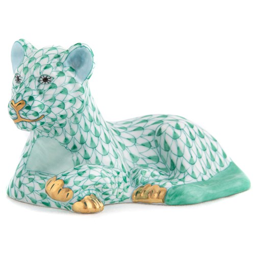 Herend Young Lion Green