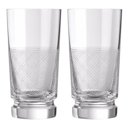 Christofle Jardin d'Eden Set of 2 Crystal Highballs