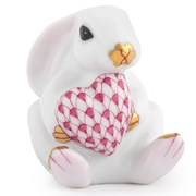 Herend White Bunny with Heart