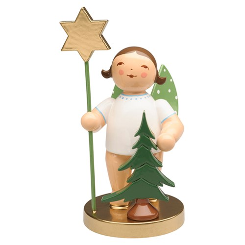 Angel with Spruce & Star, Brunette