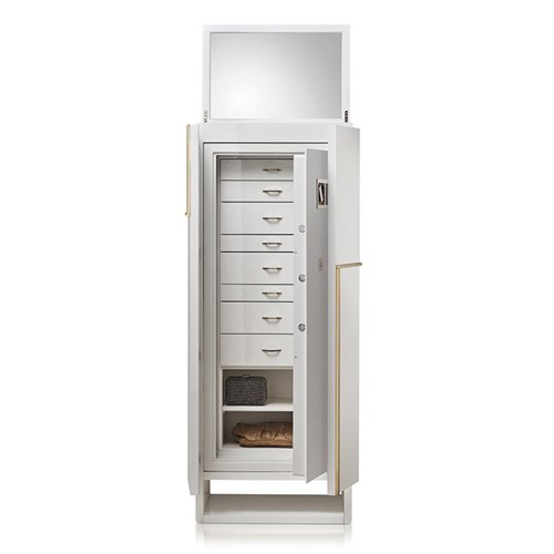 Polished Shiny White Armoire