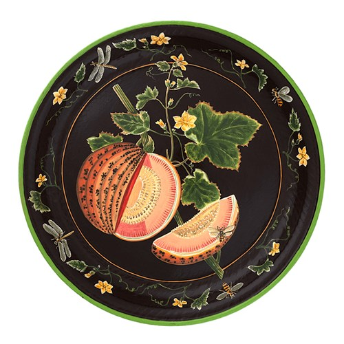 Handpainted Melon Tole Tray