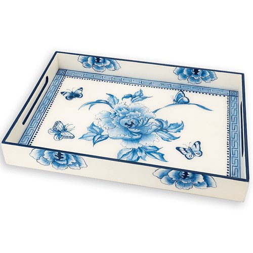 Canton Flower Lacquered Tray
