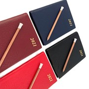 2021 Small Crossgrain Leather Diary with Pencil
