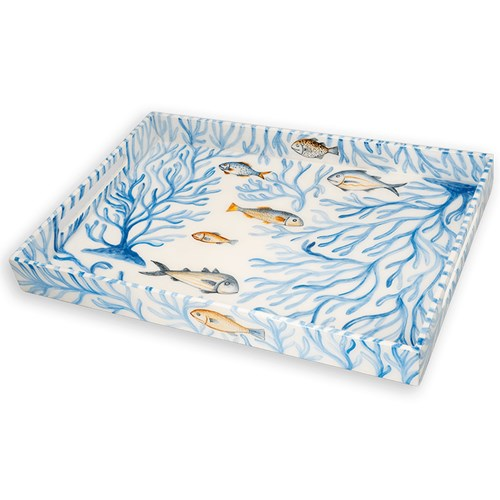 Blue Oceana Lacquered Tray