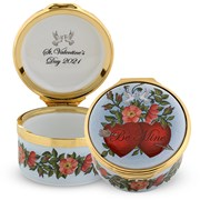 Halcyon Days 2021 Valentine's Day Enamel Box