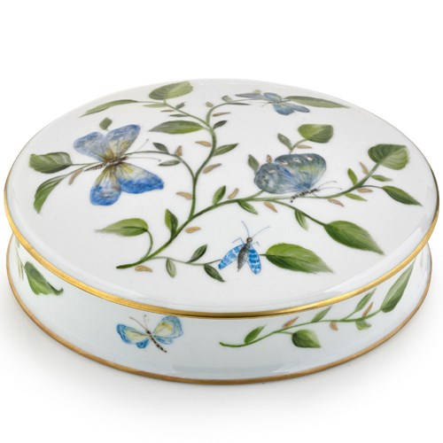 Blue Butterfly Porcelain Box