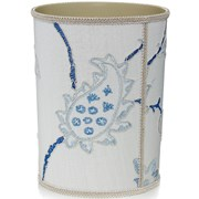 Snowball Embroidered Wastebasket & Tissue Box Cover