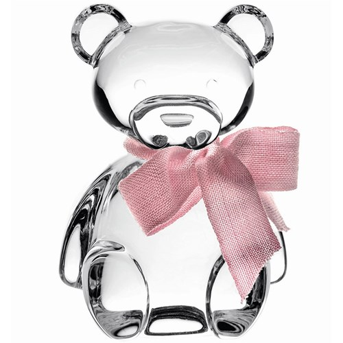 Vista Alegre Crystal Teddy Bear with Pink Lace