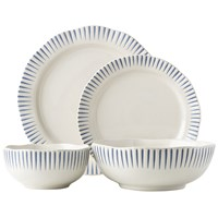 Juliska Sitio Stripe Indigo 4-Piece Place Setting