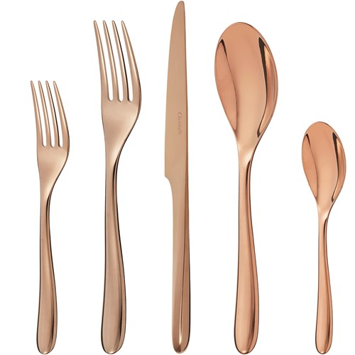 Christofle L'Ame Copper Stainless Steel 5-Piece Place Setting