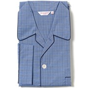 Flested Blue Piped Navy Pajamas