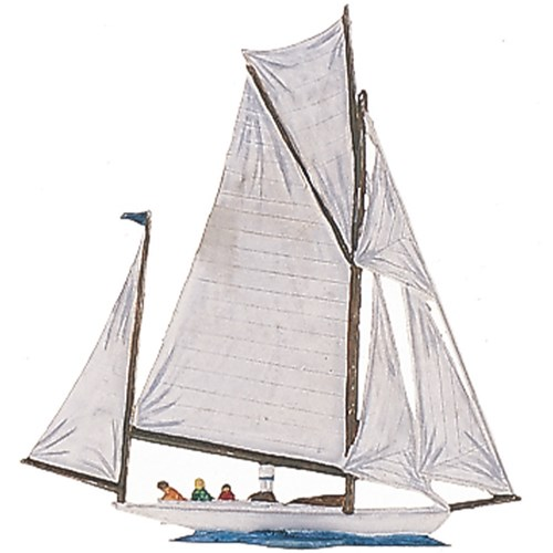 Pewter Albatros Sailboat