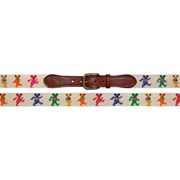 Dancing Bears on Oatmeal Needlepoint Belt