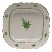 Herend Chinese Bouquet Green Square Fruit Dish