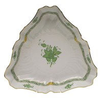 Herend Chinese Bouquet Green Triangle Dish