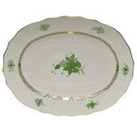 Herend Chinese Bouquet Green 2-Piece Fish Platter