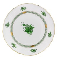Herend Chinese Bouquet Green Large Dinner Plate