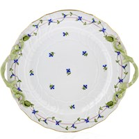 Herend Blue Garland Chop Plate with Handles