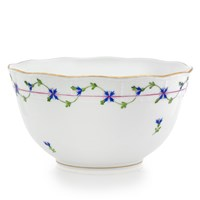 Herend Blue Garland Round Vegetable Bowl