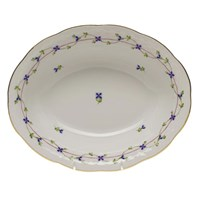 Herend Blue Garland Oval Open Vegetable Bowl