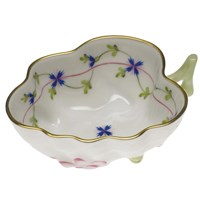 Herend Blue Garland Deep Leaf Dish