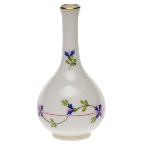 Herend Blue Garland Bud Vase, Small