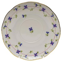 Herend Blue Garland Covered Bouillon Saucer