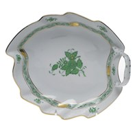 Herend Chinese Bouquet Green Leaf Dish, Small