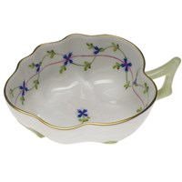 Herend Blue Garland Small Deep Leaf Dish