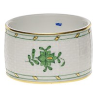 Herend Chinese Bouquet Green Napkin Ring