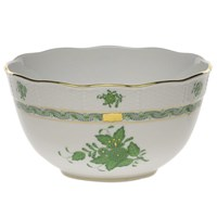 Herend Chinese Bouquet Green Round Vegetable Dish