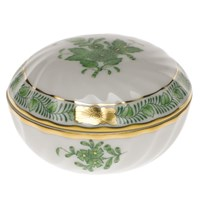 Herend Chinese Bouquet Green Ring Box