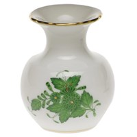 Herend Chinese Bouquet Green Bud Vase