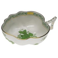 Herend Chinese Bouquet Green Deep Leaf Dish, Large