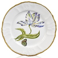Anna Weatherley Old Master Tulips Salad Plate, Yellow, Purple & Blue