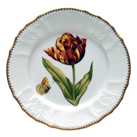 Anna Weatherley Old Master Tulips Salad Plate, Red, Yellow & Orange
