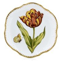 Anna Weatherley Old Master Tulips Bread & Butter Plate, Purple, Yellow & Orange