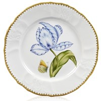 Anna Weatherley Old Master Tulips Salad Plate, Purple, Blue & Yellow