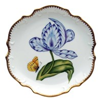 Anna Weatherley Old Master Tulips Bread & Butter Plate, Purple & Blue
