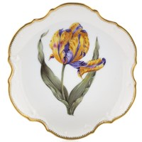 Anna Weatherley Old Master Tulips Bread & Butter Plate, Purple & Yellow