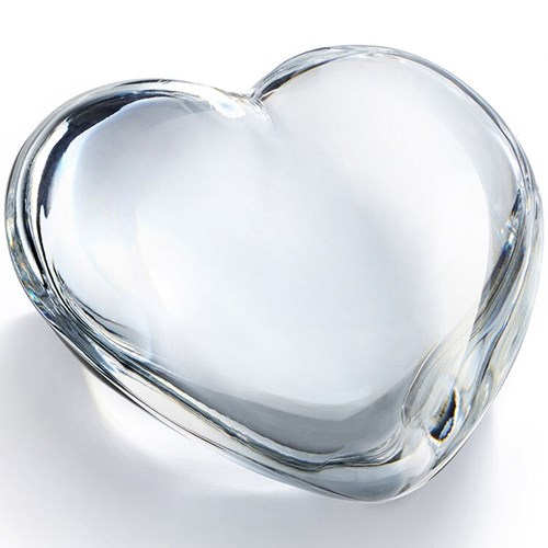 Baccarat Crystal Puffed Heart, Clear