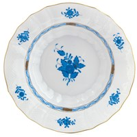 Herend Chinese Bouquet Blue Rim Soup Bowl, Large